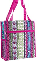 World Traveler Patchwork Print Collection Travel Tote Bag 12-inch