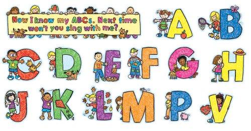 Carson Dellosa Alphabet - Carson Dellosa Alphabet Kids Bulletin Board Set (110069)