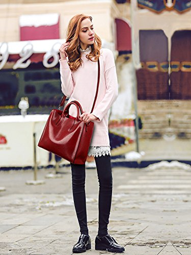 da retrò Rosso a borse spalla moda donna bag PU portafoglio borsa Messenger Sdinaz Nuove OwqEqX