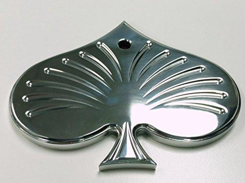 Aluminum Rear View Spade Mirror - Universal Custom Hot Rat Street Rod ()