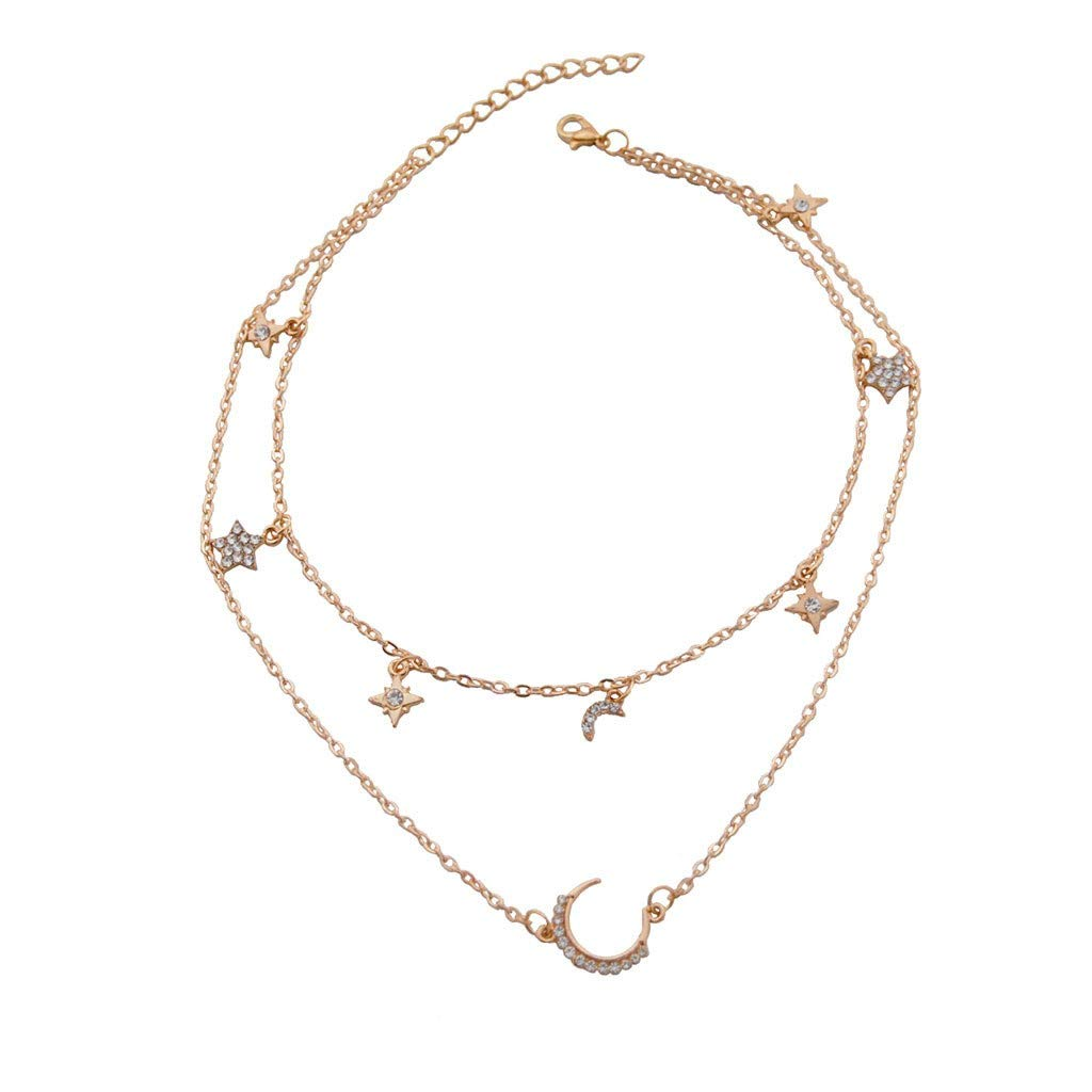 Women Flower Necklace Short Choker Floral Black Jewelry Clavicle Chain Statement