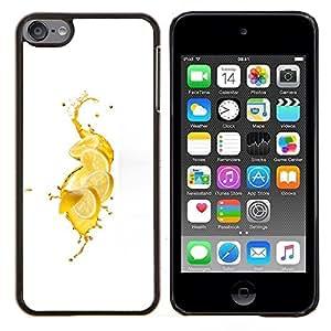 Eason Shop / Premium SLIM PC / Aliminium Casa Carcasa Funda Case Bandera Cover - Limón fresco Splash - For Apple iPod Touch 6 6th Touch6