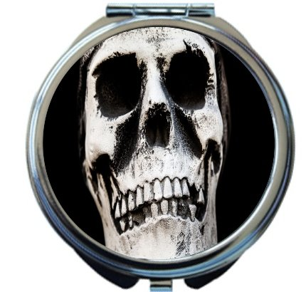 Rikki Knight Skull Bones Cracked Design Round Compact Mirror -