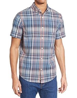 Men's Roadmap Short Sleeve Plaid Shirt Heritage Slim Fit