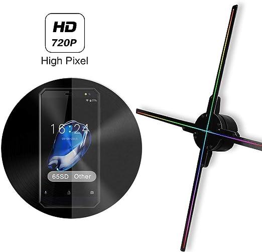 YAMEIJIA 65CM WiFi 3D Holograma Proyector Fan Z3, Proyector de ...