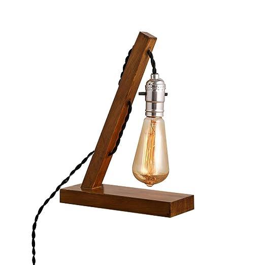 MUTANG Retro Nostalgia de Madera Maciza iluminación Vintage Edison ...