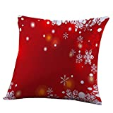 Clearance!Napoo Merry Christmas Pillow Cases Letter Print For Sofa Home Decoration