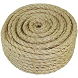 "SGT KNOTS Twisted Sisal Rope 3/16-Inch, 1/4-Inch, 3/8-Inch, 1/2-Inch x Several Lengths (1/4""x100')"