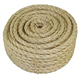 SGT-KNOTS-Twisted-Sisal-Rope-316-Inch-14-Inch-38-Inch-12-Inch-x-Several-Lengths