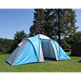 Hasika Waterproof 2-Separate Rooms Car Camper Tent with Large Door for Camping/Traveling, 15x7-Feet