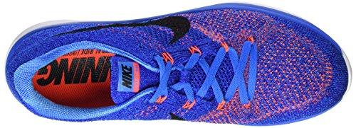 Nike Kvinner Flyknit Lunar3 Joggesko Bilde Blå / Concord / Hvit / Svart
