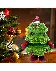 Cantando Bailando Árbol de Navidad Juguetes Niños,Muñeca de juguete de felpa animada eléctrica de Navidad, figura en movimiento de animales de peluche para decoraciones navideñas, regalo para niños