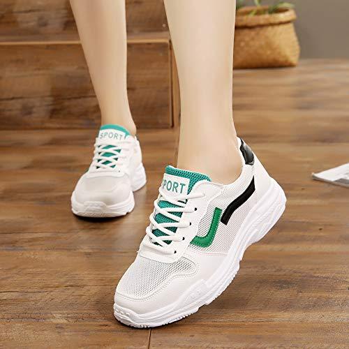 GTVERNH Damenschuhe Mode Atmungsaktive Grüne Mesh Sportschuhe Für Für Für Frauen mit Dicken Hintern Turnschuhe Joggen Weichen Boden Laufschuhe Lässige Turnschuhe. 2bdfac