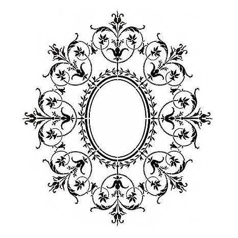 Decorative Stencil Marie Antoinette Ceiling Medallion