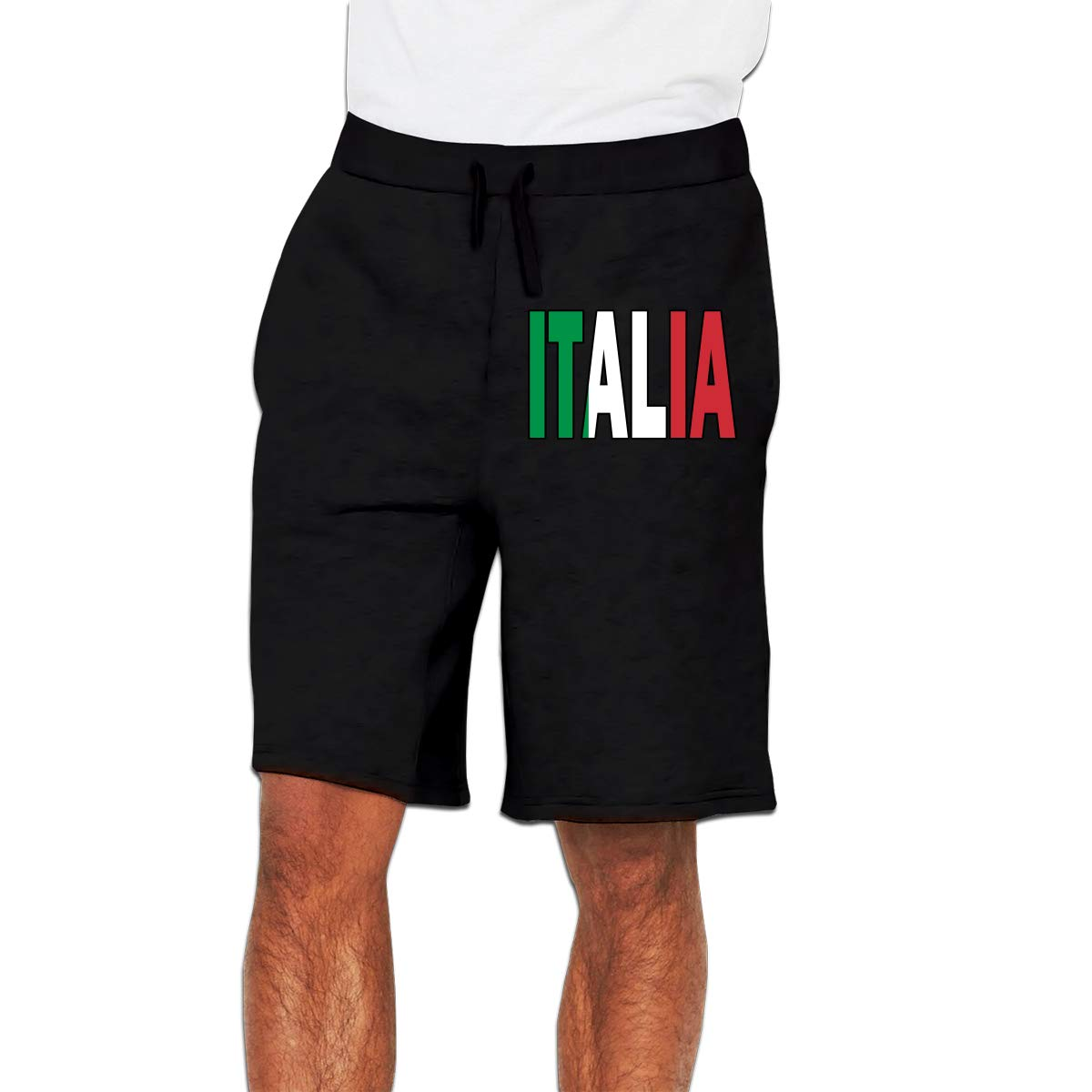 YDXC6FY Mens Board Short Italia Flag Italian Patterned Club Shorts