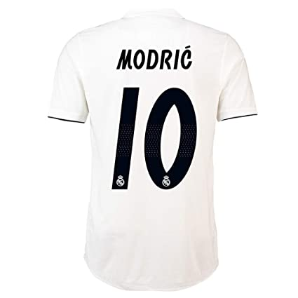 92ba291a517 Amazon.com   HOTSLOVE Real Madrid C.F Luka Modric 10  Jersey Shirt Soccer  Mens 2018 2019 Season Home White   Sports   Outdoors
