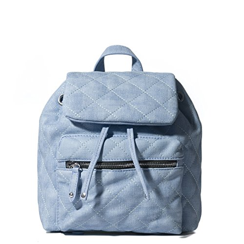 Handbag Republic Casual Lightweight Fashion Designer Quilted Denim faux Leather Mini Backpack for Women