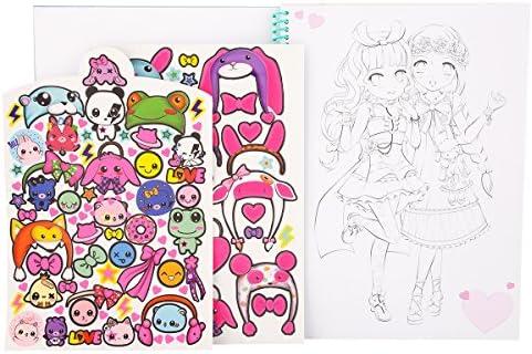 Amazon Com Coloring Manga Album Top Model Toys Games