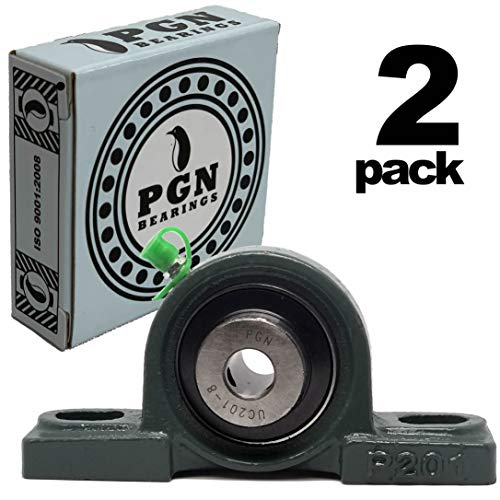 (PGN - UCP201-8 Pillow Block Mounted Ball Bearing - 1/2