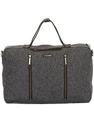 Hook and Albert Melange Fabric 3-Way Carryall, Grey