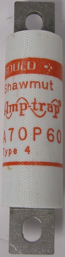 Gould Shawmut Amp-Trap 60A 700VAC Form 101 Semiconductor Fuse A70P60