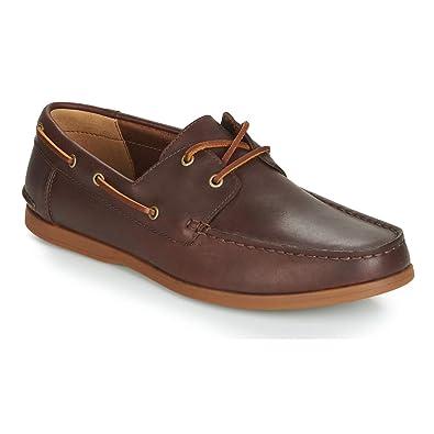 52ebe83e0a8 Clarks Men s Morven Sail British Tan Lea Leather Loafers-10 UK India (44.5