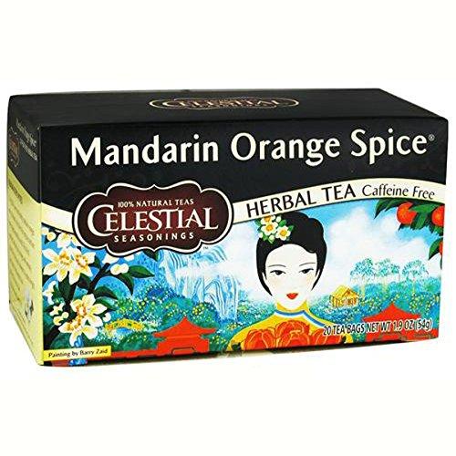 Celestial Seasonings Tea Herb Mandarin Orange Spice Bag, 20 ct