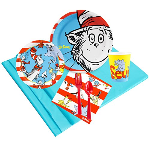 Dr Seuss Childrens Birthday Party Supplies - Tableware Party Pack (24) ()