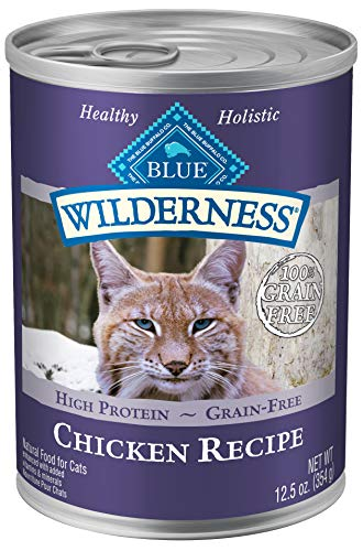 Blue Wilderness Adult Grain Free Chicken Pate Wet Cat Food 12.5-Oz (Pack Of 12)