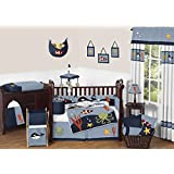 Sweet Jojo Designs Ocean Blue Whale, Fish, Octopus, Seahorse, Dolphin 9 Piece Crib Baby Boy Bedding Set