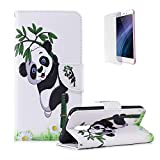 Funyye Magnetic Flip Cover for Xiaomi Pocophone F1,Premium Stylish Panda Bamboo Pattern Stand Card Holder Slots Cover Wallet PU Leather Case with Soft Silicone for Xiaomi Pocophone F1 + 1 x Free Screen Protector