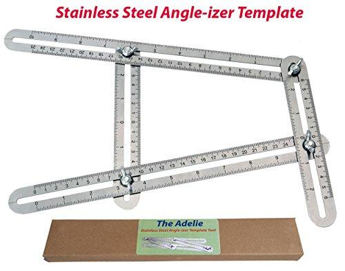 Stainless Steel Angle-izer Template Tool-Measures All Angles and Forms-Angleizer Template for DIY, Handymen, Builders, Carpenters, Craftsmen, Contractors, Roofers &Tilers