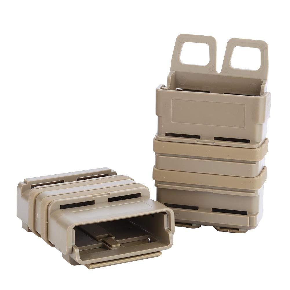 GLOGLOW Sacchetto magnetico tattico di 3 colori Mag marrone chiaro sistema di colpo molle del sacchetto della rivista dellABS per 5.56 Mags
