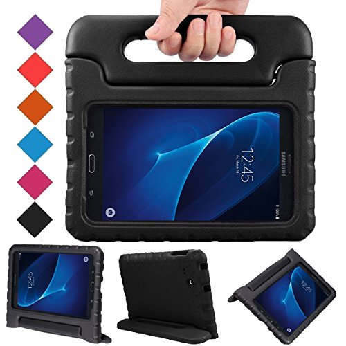BMOUO Kids Case for Samsung Galaxy Tab A 7.0 - EVA Shockproof Case Light Weight Kids Case Super Protection Cover Handle Stand Case for Kids Children for Samsung Galaxy Tab A 7-inch Tablet - Black
