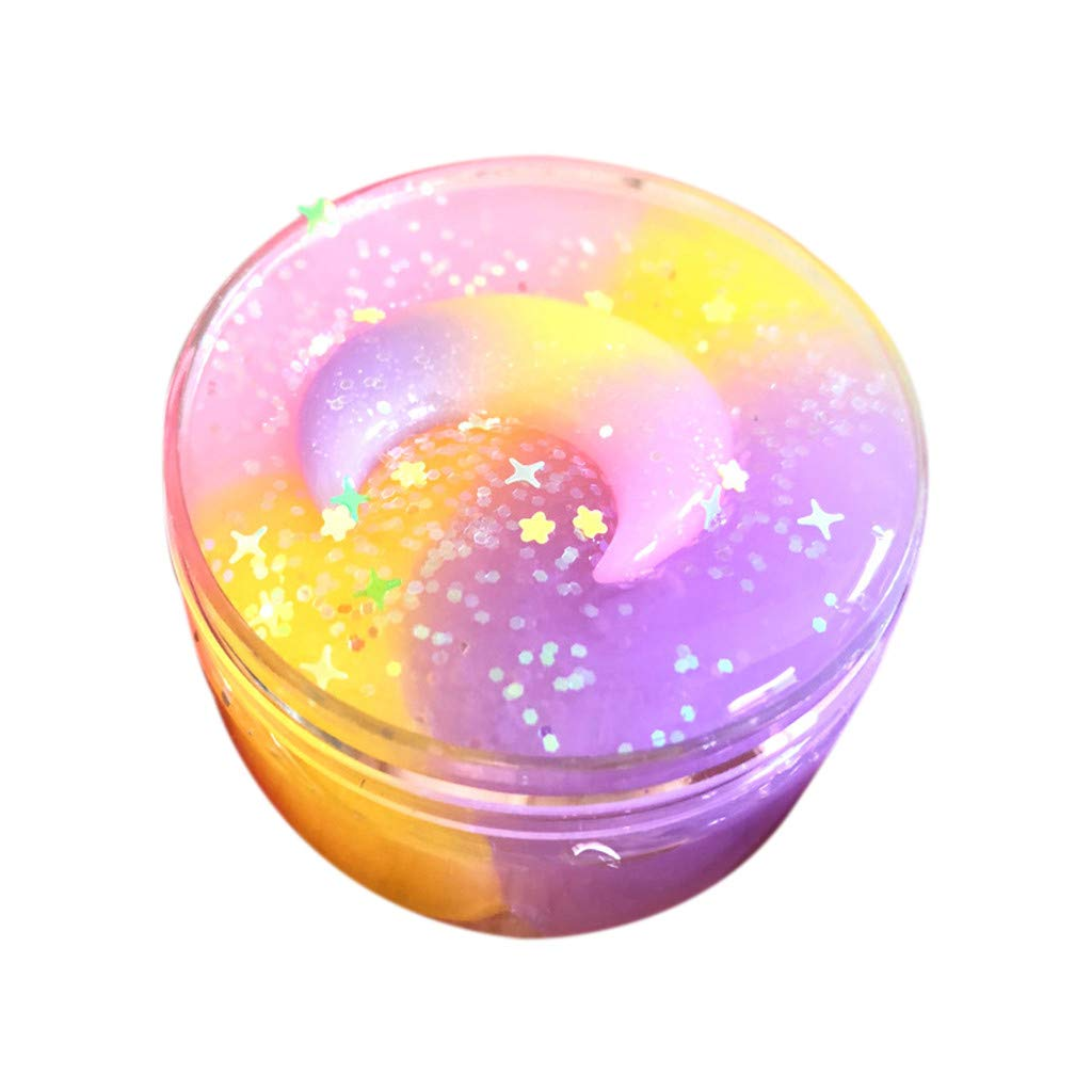 Trigle Moon & Star Mix Color Cloud Puff Slime Putty Scented Crystal Mud Toy 100ML (A)