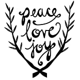 Peace Love Joy, Black - Holidays - Christmas - Vinyl Wall Art Decal for Homes, Offices, Kids Rooms, Nurseries, Schools, High Schools, Colleges, Universities