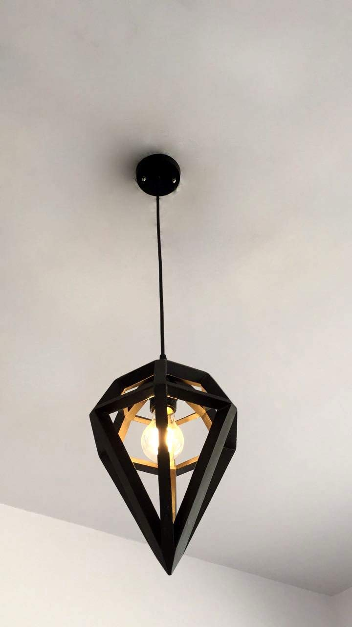 mat white and light pine wood ECO-friendly recyled from big coffe can ! Hanging  ceiling lamp  pendant light