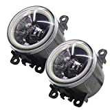 Cawanerl 2 Pieces Car 4000LM LED Bulb H11 Fog Light Angel Eye DRL Daytime Running Light Compatible Suzuki Swift / XL7 / Jimny FJ/Splash Hatchback/Ignis II/Grand Vitara 2 / SX4 / Alto V