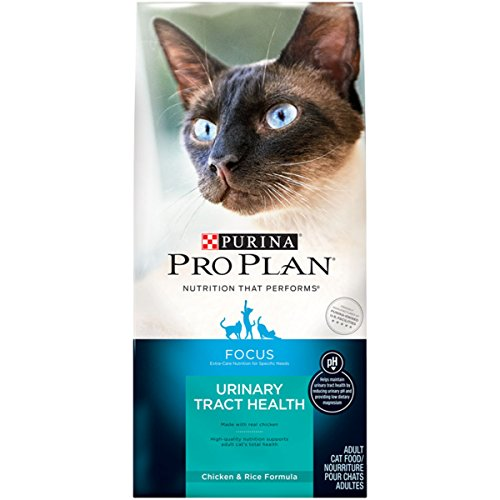 - Purina Pro Plan Urinary Tract Health Dry Cat Food; FOCUS Urinary Tract Health Chicken & Rice Formula - 16 lb. Bag