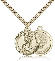 Gold Filled St. Christopher Pendant