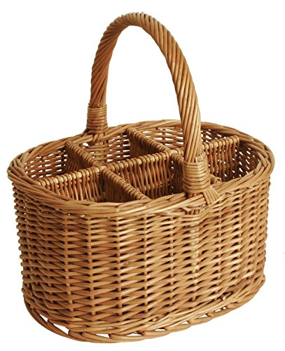 (Wald Imports Brown Willow Wine/Beverage Storage Basket)