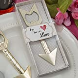Cupid's Arrow Gold Metal Bottle Opener Wedding Favors, 96