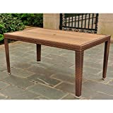 Rectangular Patio Dining Table in Antique Brown Finish