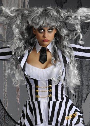 Las señoras de largo gris peluca Beetlejuice: Amazon.es: Juguetes y juegos