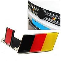 Juhonドイツツインズフラグバジェットグリルエンブレムカーステッカー デコーダーユニバーサルデコレーション