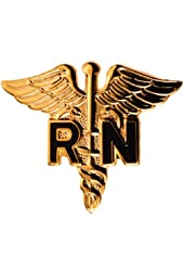 Registered Nurse RN Caduceus Medical pin