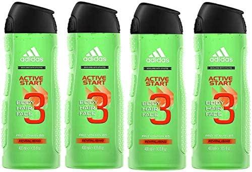 Adidas Active Star Gel de ducha para Hombre, 400 ml, Pack de 4