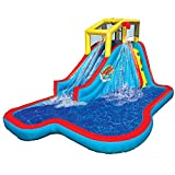 Banzai 35076 Slide N Soak Inflatable Water Park Pool