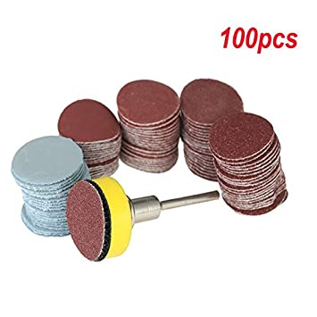 2 Inch 100-2000 Grit Sandpapers with Hook and Loop Backer Pad