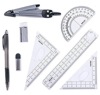 .com : school math geometry set protractor drawing compass ...